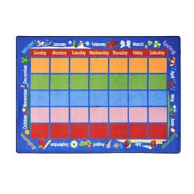 "Celebrations Calendar Rectangle Rug 92"" x 129"", P40112"