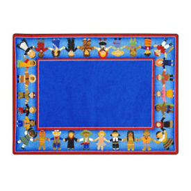 "Children of Many Cultures Rectangle Rug 129"" x 158"", P40119"