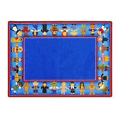 "Children of Many Cultures Rectangle Rug 65"" x 92"", P40114"