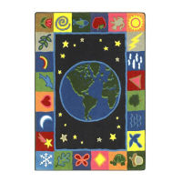 "EarthWorks Rectangle Rug 129"" x 158"", P40128"