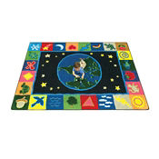 "EarthWorks Square Rug 91"", P40127"