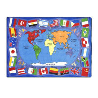 "Flags of the World Rectangle Rug 92"" x 129"", P40139"