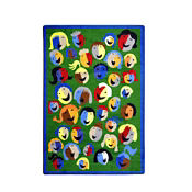 """Joyful Faces Rectangle Rug 46"""" x 65"""", P40150"""