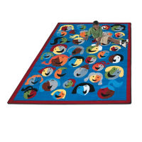"Joyful Faces Rectangle Rug 129"" x 158"", P40157"