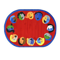 "Joyful Faces Oval Rug 129"" x 158"", P40158"