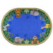 "Jungle Friends Oval Rug 92"" x 129"", P40164"