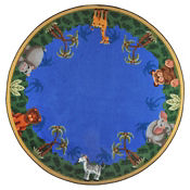 "Jungle Friends Round Rug 91"" Diameter, P40165"