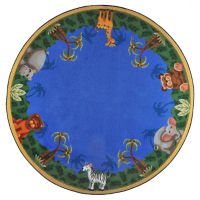 "Jungle Friends Round Rug 158"" Diameter, P40169"