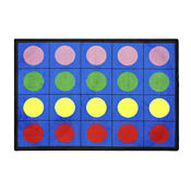 "Lots of Dots Rectangle Rug 92"" x 129"", P40187"