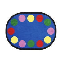 "Lots of Dots Oval Rug 129"" x 158"", P40191"