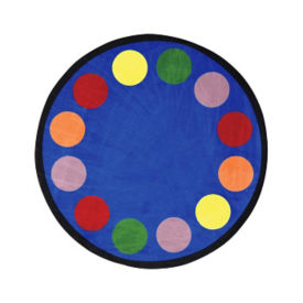 "Lots of Dots Round Rug 91"" Diameter, P40189"