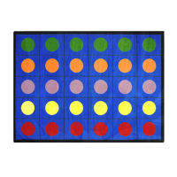 "Lots of Dots Rectangle Rug 129"" x 158"", P40190"