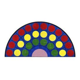 "Lots of Dots Half Round Rug 79"" x 158"", P40192"