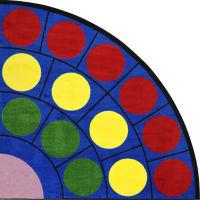 """Lots of Dots Radius Corner Rug 79"""" Diameter, P40193"""