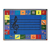 "Noteworthy Preschool Music Design Rectangle 65"" x 92"", P40196"