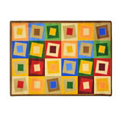 "Off Balance Rectangle Rug 46"" x 65"", P40199"