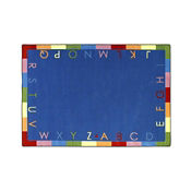 "Rainbow Alphabet Rectangle Rug 46"" x 65"", P40216"