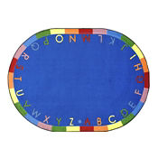 "Rainbow Alphabet Round Rug 158"" Diameter, P40225"