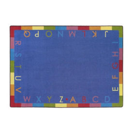 "Rainbow Alphabet Rectangle Rug 65"" x 92"", P40218"