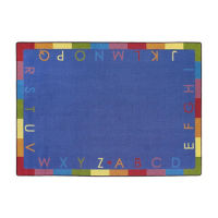 "Rainbow Alphabet Rectangle Rug 129"" x 158"", P40223"