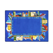 "Read to Succeed Rectangle Rug 92"" x 129"", P40229"