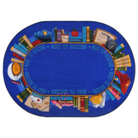 "Read to Succeed Oval Rug 65"" x 92"", P40228"