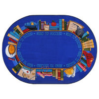"Read to Succeed Oval Rug 129"" x 158"", P40232"
