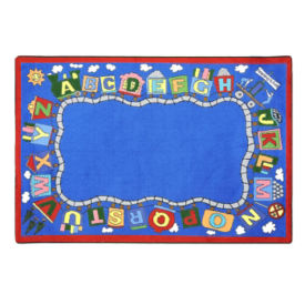 "Reading Train Rectangle Rug 92"" x 129"", P40235"