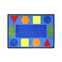 "Sitting Shapes Rectangle Rug 129"" x 158"", P40246"