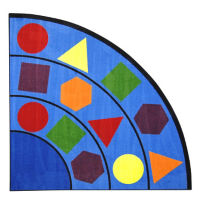 "Sitting Shapes Corner Rug 79"" Radius, P40249"