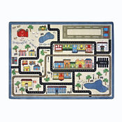 "Tiny Town Rectangle Rug 92"" x 129"", P40258"