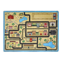 "Tiny Town Rectangle Rug 129"" x 158"", P40259"