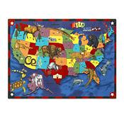 "Wild America Rectangle Rug 129"" x 158"", P40268"