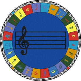 Noteworthy Elementary Music Round Rug, P40301