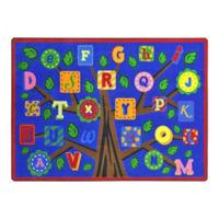 "Alphabet Leaves Rectangle Rug - 7'8"" x 5'4"", P30435"