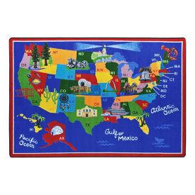 "America the Beautiful Rectangle Rug - 10'9"" x 7'8"", P30439"