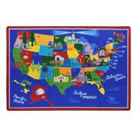 "America the Beautiful Rectangle Rug - 7'8"" x 5'4"", P30438"