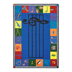 "Note Worthy Elementary Rectangle Rug - 10'9"" x 7'8"", P30471"