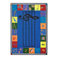 "Note Worthy Elementary Rectangle Rug - 10'9"" x 13'2"", P30472"