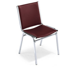 "Stack Chair with 2"" Fabric Seat, C60039"