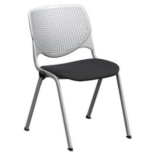 Armless Stack Chair with Perforated Poly Back and Upholstered Seat, C60203
