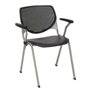 Stack Chair with Perforated Poly Back, C60206
