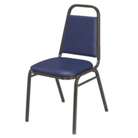 "Stack Chair with 1.5"" Thick Seat, D58122"