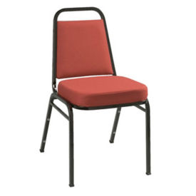 "Stack Chair 2"" Seat Black Frame, D58128"