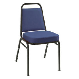 "Stack Chair 2"" Seat Black Frame, D58129"