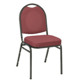 "Stack Chair 2"" Seat Black Frame, D58133"