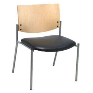 Oversized Wood Back Armless Stack Chair, K10050