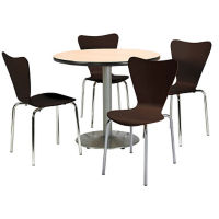 "36"" Round Pedestal Table and Bentwood Chair Set , K10099"