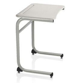 "Hard Top Desk with Cantilever Base - 25""H, J10093"