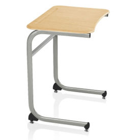 "Laminate Top Desk with Cantilever Base - 27""H, J10096"